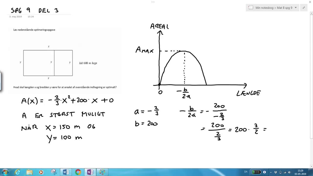 Differentialregning - optimering - Del 3