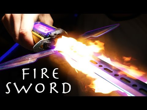 How To Make a FIRE SWORD! - Cheap Simple Build (INSANE RESULTS!!!)