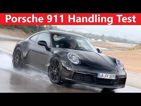 Porsche 911 (992)   Dry Wet Winter Handling Test