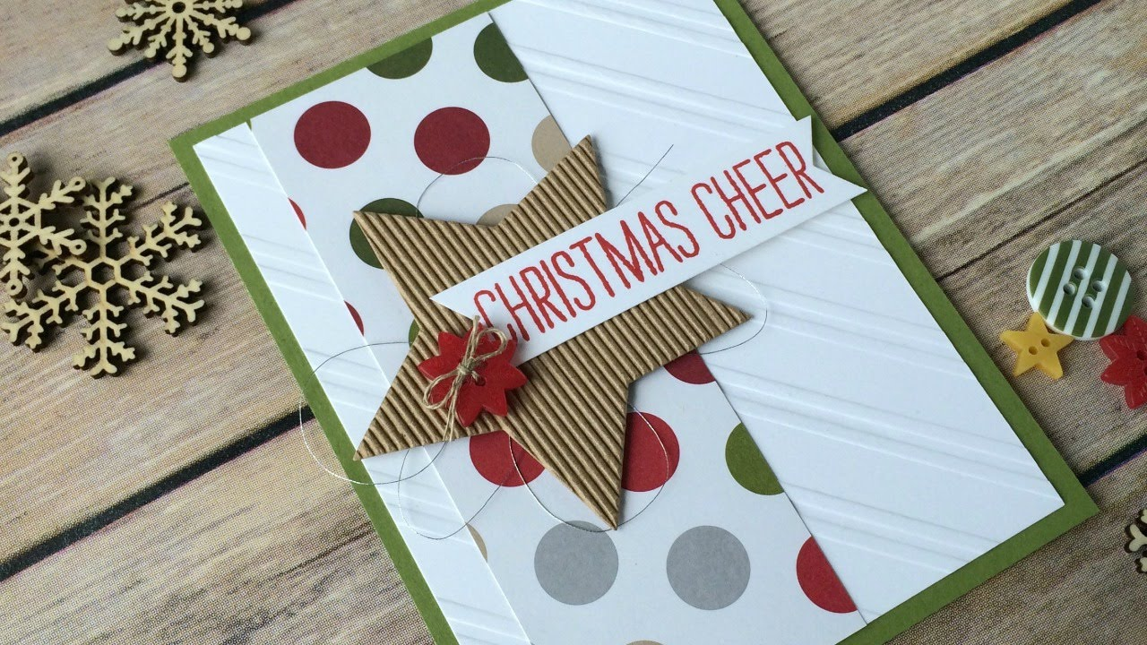 country christmas card stampin up cheer all year youtube