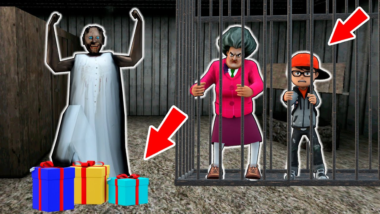 Granny vs Scary Teacher vs Nick vs Amusement Park - funny horror animation parody (p.115)