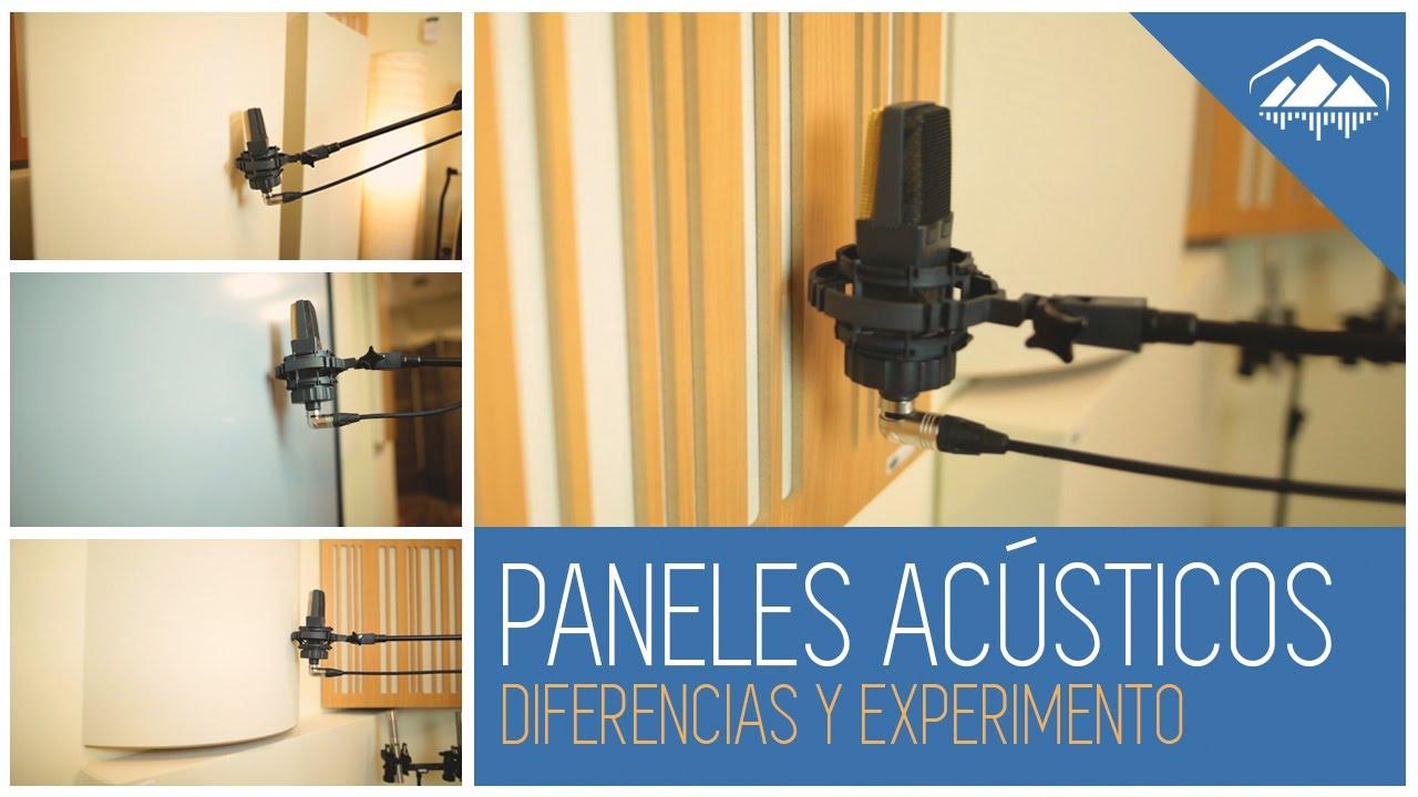 PANELES ACÚSTICOS, DIFERENCIAS Y EXPERIMENTO en el Home Studio