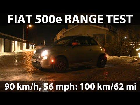 Fiat 500e range test