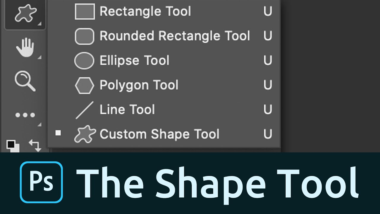 shape tool photoshop  How to Use the Shape Tool in Photoshop - YouTube