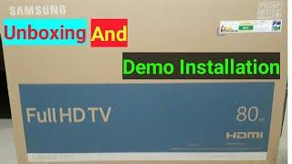 Samsung 32K5300 LED TV Unboxing And Explain Demo Installation