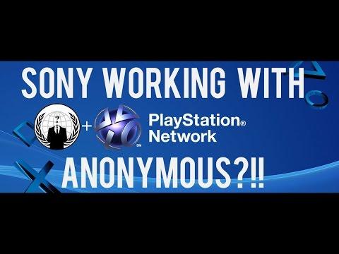 PSN SERVER SHUTDOWN\ SONY WORKING WITH ANONYMOUS?!!
