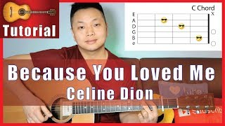 Because You Loved Me   Celine Dion Guitar Tutorial