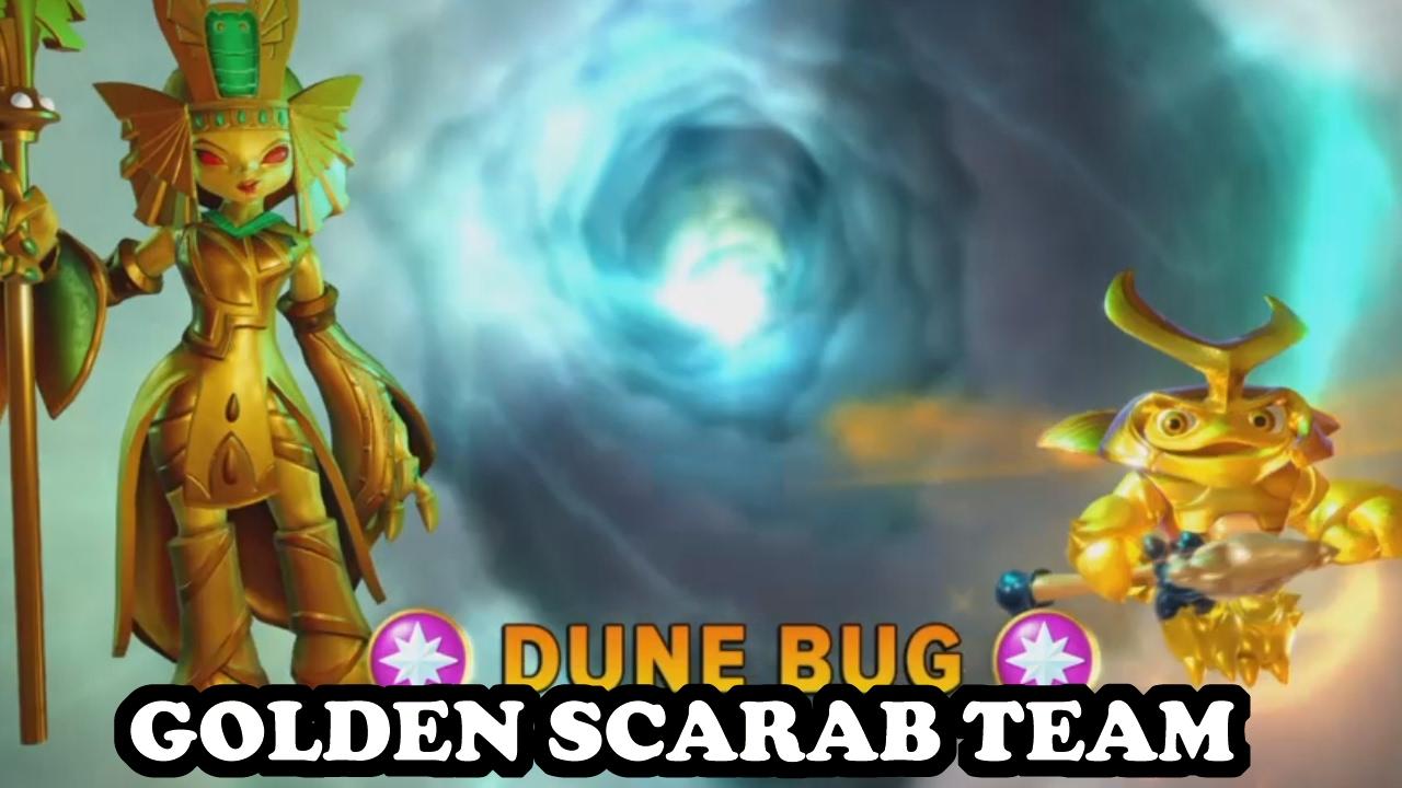 Skylanders Imaginators - Golden Queen & Golden Dune Bug GAMEPLAY - GOLDEN  SCARAB TEAM