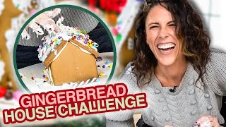Decorating Gingerbread Houses BLINDFOLDED