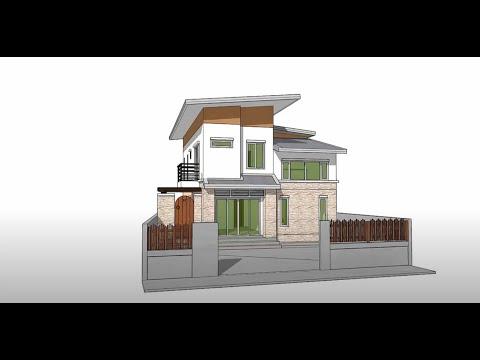 Sketchup create 3d Model House Tutorial