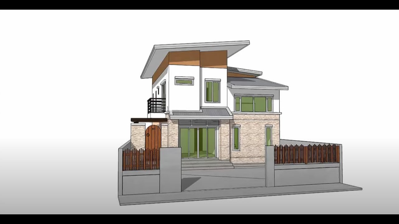 Sketchup create 3d model house tutorial youtube for Build house online 3d free