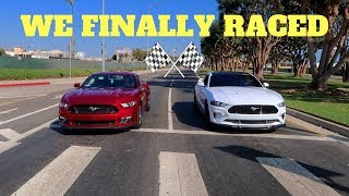 2018 Mustang GT Vs. 2016 Mustang GT RACE! WHO'S FASTER!?