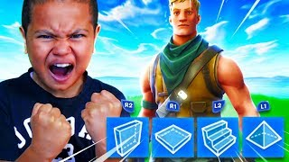 My Little Brother PLAYS BUILDER PRO FOR THE FIRST TIME EVER!! *HE GOT SO MAD RANGER BACK!* FORTNITE