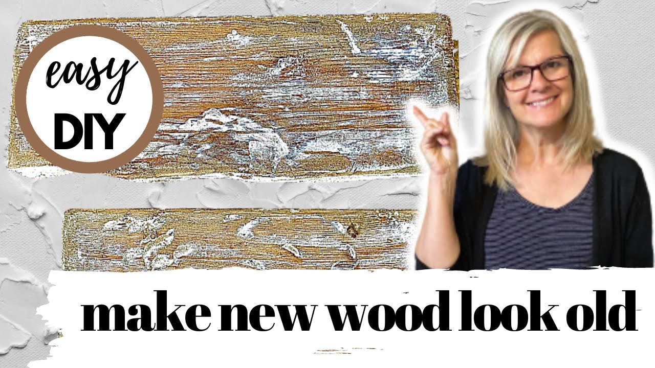 HOW to make New WOOD LOOK OLD & WEATHERED FAST / EASY DIY / TRASH TO TREASURE / FARMHOUSE DECOR