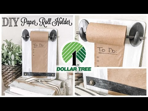 DIY Dollar Tree Paper Roll Holder