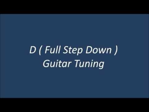 D Standard Guitar Tuning ( D G C F A D )