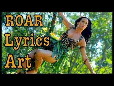 """DIY: """"ROAR"""" KATY PERRY LYRICS ART!"""