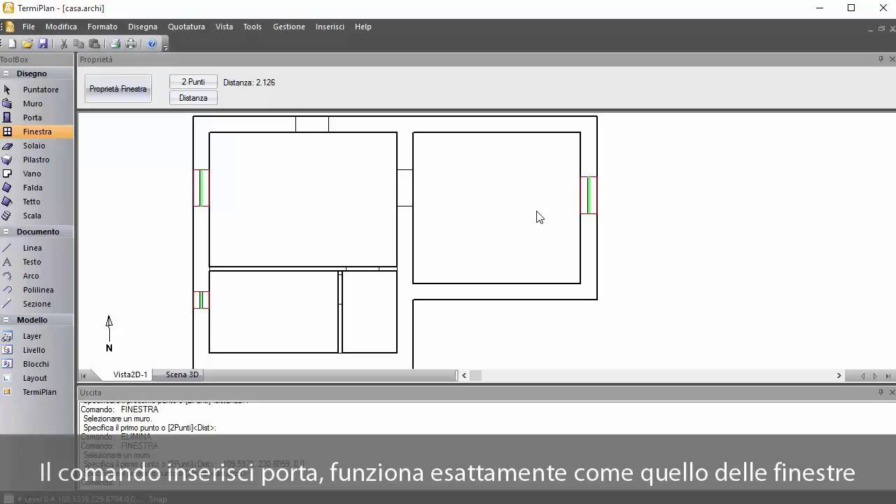 Inserire file dwg e disegnare i muri con termiplan youtube - Porte finestre dwg ...