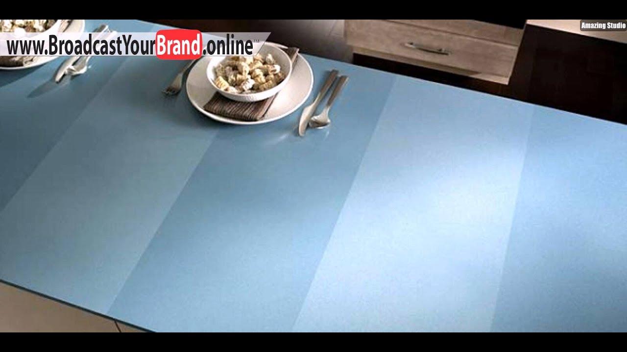 Streifenmuster Blau Designer Küchenarbeitsplatten Dupont