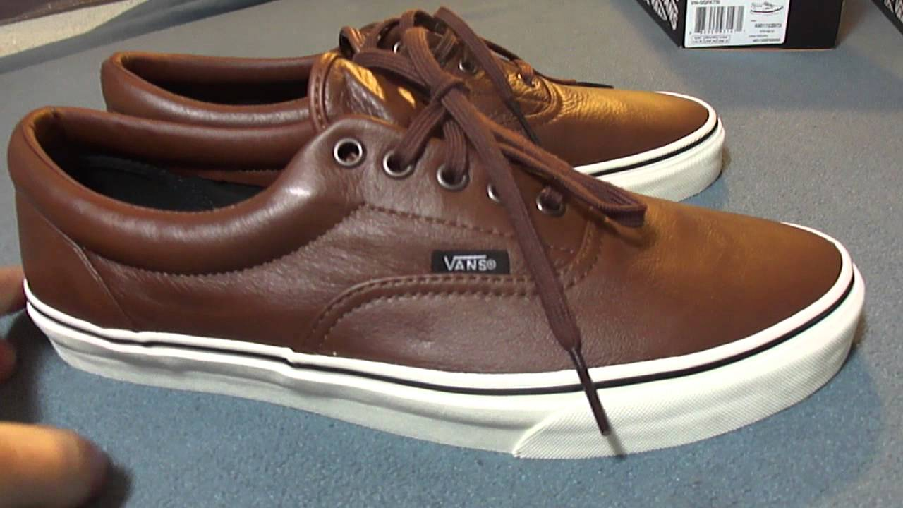 fa06a47761 Shoe Review  Vans  Aged Leather  Era s (Black   Brown) - YouTube