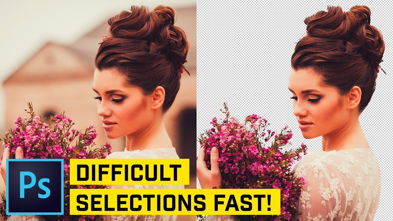 The FASTEST Way to Cut Out HAIR in Photoshop CC
