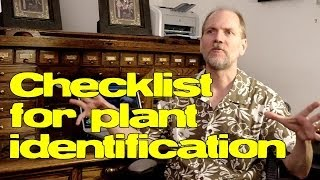 Create a checklist for plant identification