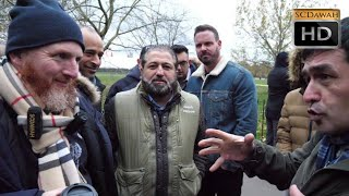 P1 - Smashed Theory! Hamza Vs Christian   Speakers Corner   Hyde Park