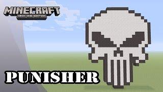 Minecraft: Pixel Art Tutorial and Showcase: Punisher Logo