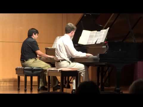 Jacob plays Fanfare Celebration by Robert Vandall with Thomas Humphries at Rollins 2013 09 29