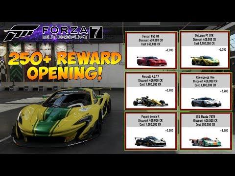 Forza Motorsport 7 - 250+ REWARDS OPENING! 15M+ Credits & LOADS OF CARS!