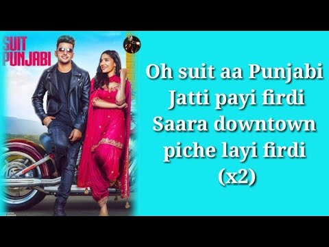 Suit Punjabi Lyrics Jass Manak New Song 2018