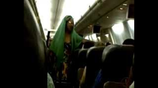 Crazy Jamaican woman 'Acts A Fool' on Caribbean Airlines flight from Canada