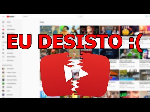 EU DESISTO DO YOUTUBE! VOU VIRAR PINTOR!