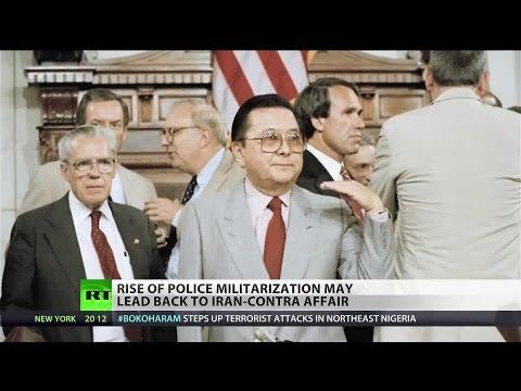 Did the CIA's involvement in the 1980s drug trade lead to police militarization?