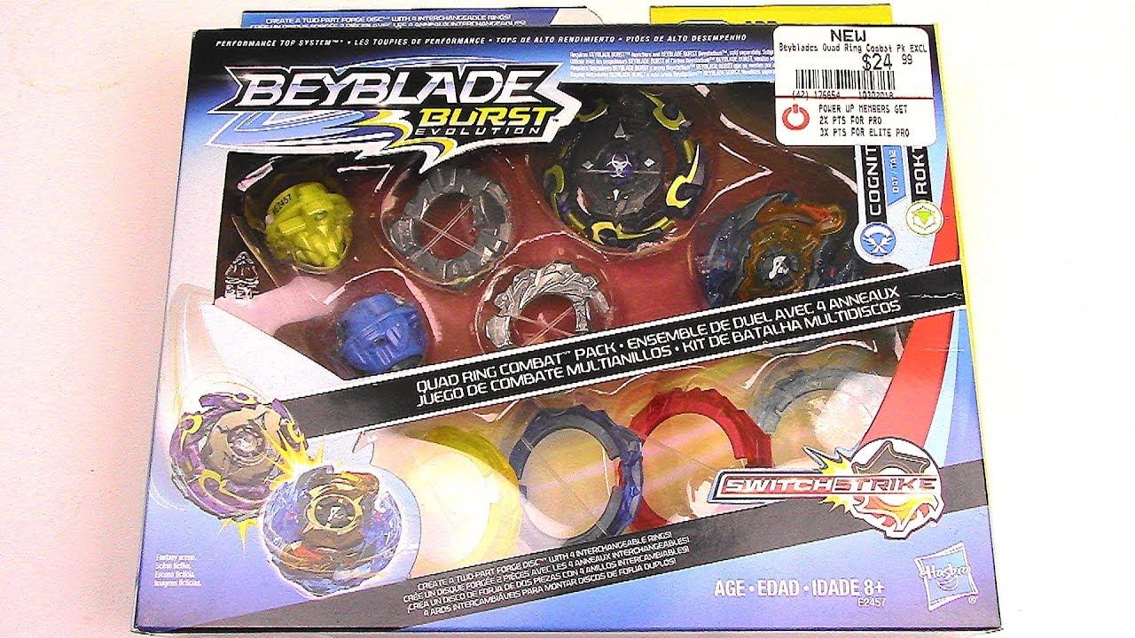 Beyblade Burst Evolution Quad Ring Combat Gamestop Exclusive