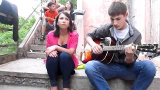 Саша и Дима - Враг навсегда остается врагом. Песня под гитару.