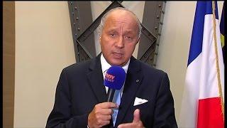 """Espace Schengen: """"Si on en sortait, cela nous laisserait démunis"""", estime Fabius"""