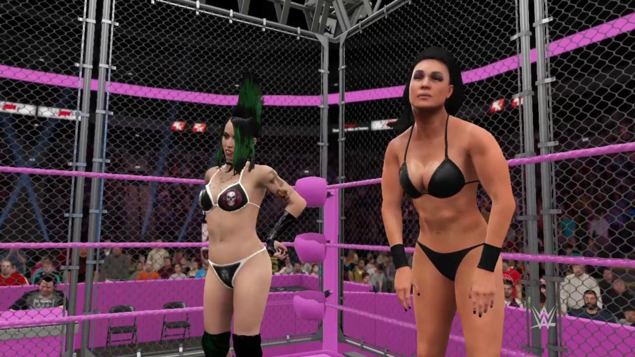 WWE 2K17_Tessa Blanchard & Summer Rae vs  Christina Von Eerie &  Tamina_Steel Cage match