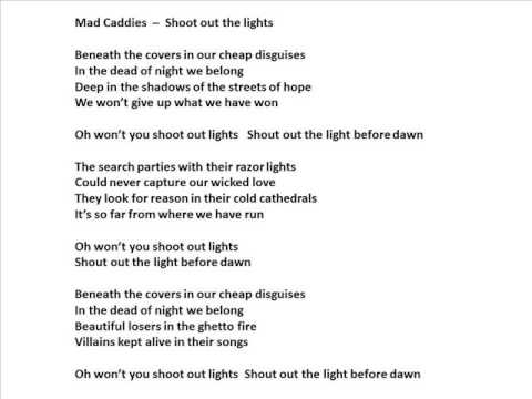 Mad Caddies - Shoot out the Lights Lyrics