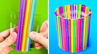 20 FUN HACKS AND CRAFTS WITH STRAWS