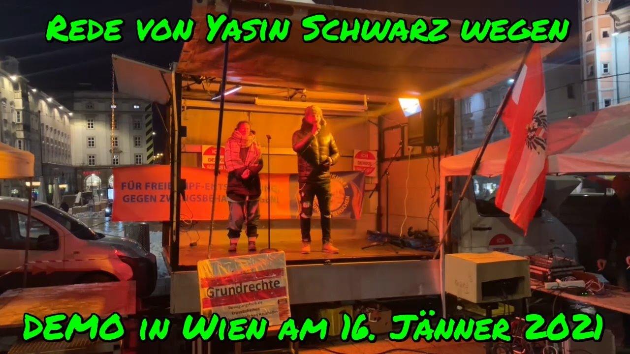 GROSSDEMO IN WIEN am 16.01.2021: WICHTIGE ANKÜNDIGUNGEN von Yasin (Die Stimme der Straße)