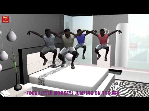 5 Little  AFRICAN CHILDREN Jumping On The Bed   Nursery Rhymes Children Songs   3D Animation