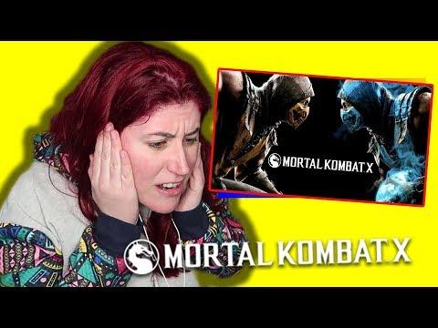 REACCION a los FATALITIES de MORTAL KOMBAT X por HELANYAH