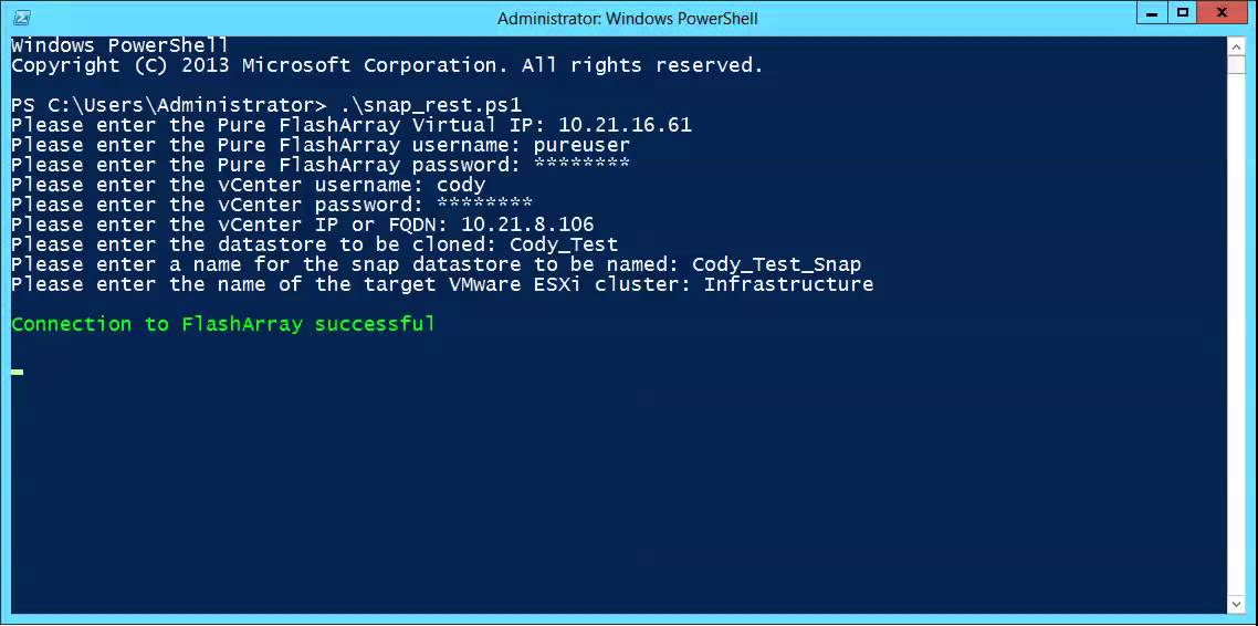 PowerShell and Pure Storage REST API Scripting | Cody Hosterman