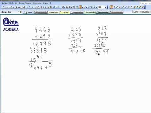 Multiplicacion por 3 cifras 5º Primaria Matematicas AINTE