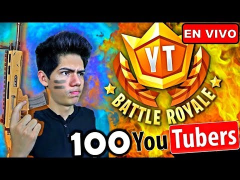 ¡GUERRA de YouTubers en Fortnite! 100 YOUTUBERS #YTBattleRoyale - [ANTRAX]