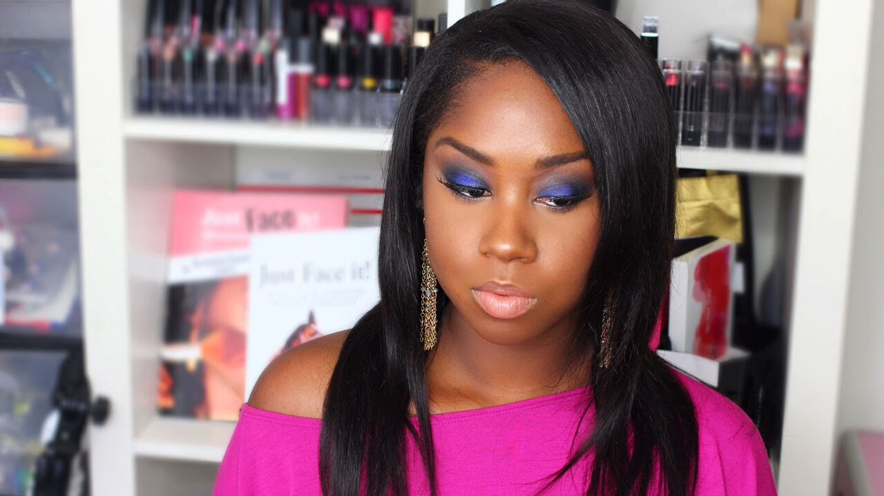 navy blue eyeshadow tutorial blue smokey eye tutorial