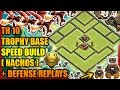 Clash Of Clans - Town Hall 10 (TH10) Trophy Base with Bomb Tower + Defense Replays| ANTI AIR| ANTI 2