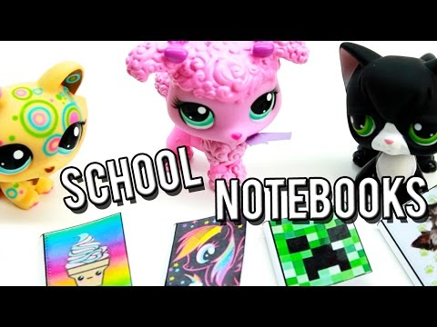 How to make DIY School Notebooks with Pages l Miniature Crafts l LPS