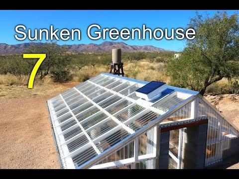 Sunken Greenhouse 7 - Rainwater Harvesting, cooling tunnel